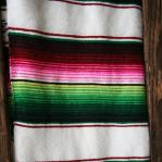 Striped mexican throw