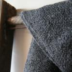 Alpaca scarf dark grey