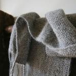 Alpaca scarf light grey