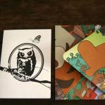 Letterpress card. Owl