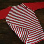 Striped red blue tee